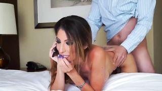 Муж контролирует по телефону, как друг жестко трахает его жену