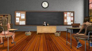 Учитель сексологии трахает двух первокурсниц на столе в классе